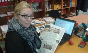 Dr. Lara Sigwart-Engagement-für-Flüchtlinge-Zeitungsartikel-Wiesbadener-Kurier